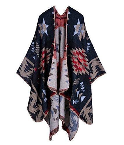 Aivtalk - Mujer Poncho Invierno Viaje Suave Estampado