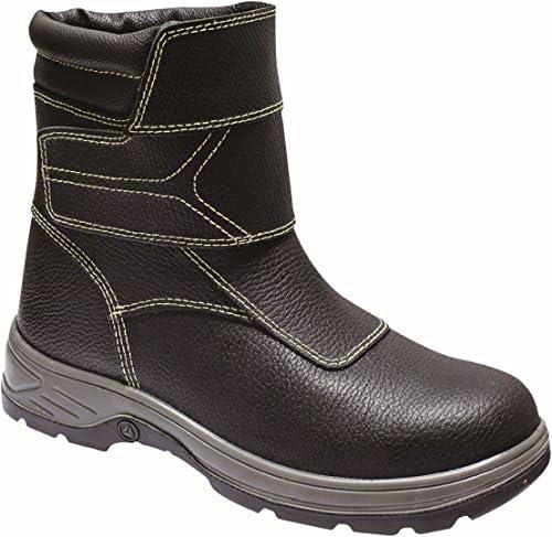 Delta plus calzado - Juego bota para fundido/fundición piel negro talla 42(1 par)