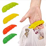 EasyBuy India 1pc Silicone Pea-shaped Bag Holder Clip Hanger Portable key Chain Bag Device Bag Filter Hand Shopping Bag Carry Tool QB872553