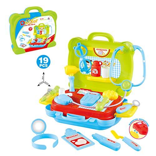 Mitlfuny Auto-Modell Plüsch Bildung Squishy Spielzeug aufblasbares Spielzeug im Freien Spielzeug,19 Stücke Spielen Arzt vorgeben medizinische Set Fall pädagogische Rolle Spielen Geschenk für Kinder