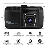 Prous FHD 1080P Dash Cam, KB20 Car Recorder 170°Wide Angle Driving Video Camera With Night Vision,G-Sensor,Loop Recording,Motion Detection,Parking Monitor