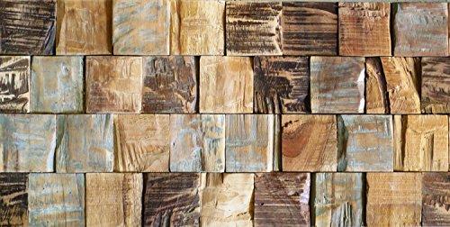 Piastrelle da parete d i contura wood i in legno naturale di