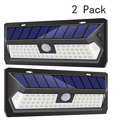 Jsyuany Solarleuchten für Außen LED, Solarlampen mit Bewegungsmelder Solar Wasserdichte Wandleuchte Solar Aussenleuchte Solarlicht für Garten, Patio, Deck, Hof 30cm*11.4cm*4.2cm