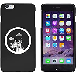 Azeeda Negro '�rboles y Ovnis' Funda / Carcasa para iPhone 6 Plus & 6s Plus (MC00143007)