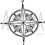 Azeeda A5 'Kompass Stern' Wandschablone/Vorlage (WS00024532)