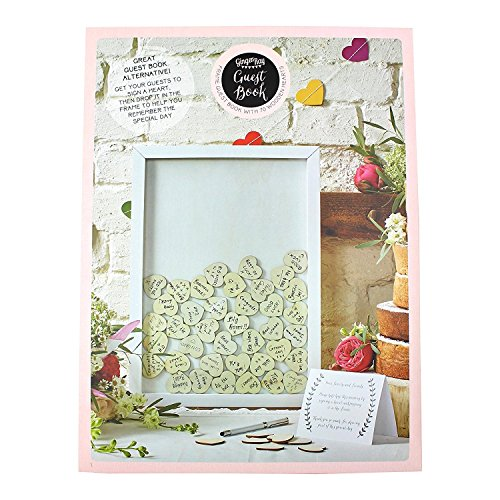 Ginger Ray Boho Drop Top Wooden Frame Alternative Wedding Guest Book