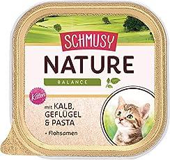 Schmusy Katzenfutter Natures Menü für Kitten mit Kalb 100 g, 16er Pack (16 x 100 g)