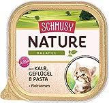 Schmusy Katzenfutter Nature Balance für Kitten mit Kalb 100 g, 16er Pack (16 x 100 g)