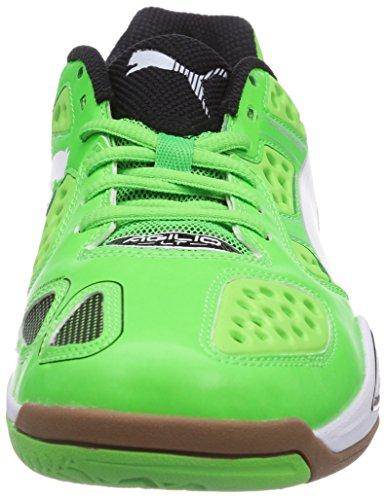 Puma Agilio LT, Scarpe sportive indoor unisex adulto Verde (Grün (fluo green-white-black 03))