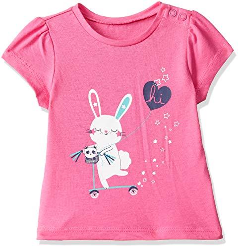 Mothercare Baby Girls' Animal Print Regular Fit T-Shirt (QB551-1_Pink_9-12 M)
