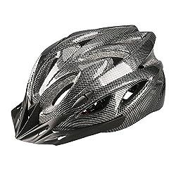 Uzexon Erwachsene Unisex Helme mit 18 Belüftungsöffnungen,Abnehmbarer Visier,Einstellbares Radsystem und Ein weicher Mesh-Liner für Fahrradhelme (Schwarz)