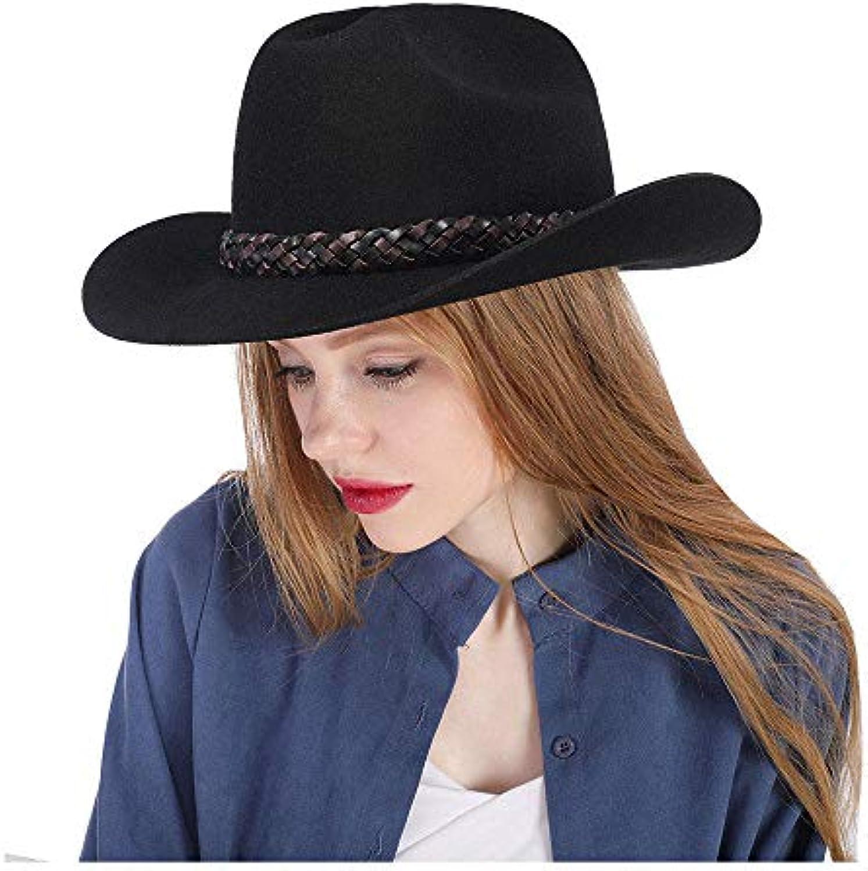 FuweiEncore Cappello da cowboy vintage nero BAILEY Cappello in feltro lana  100% lana feltro feltro e6af0b279954