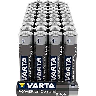 VARTA Power on Demand AAA Micro Batterien (40er Pack Vorratspack in umweltschonender Verpackung - smart, flexibel und leistungsstark - z.B. für Computerzubehör, Smart Home Geräten oder Taschenlampen)