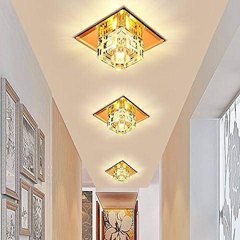 Foco LED Luz Lámpara de techo ojo de buey el corredor corredor luz luces luces luces de porche agujero cuadrado lámparas de techo de