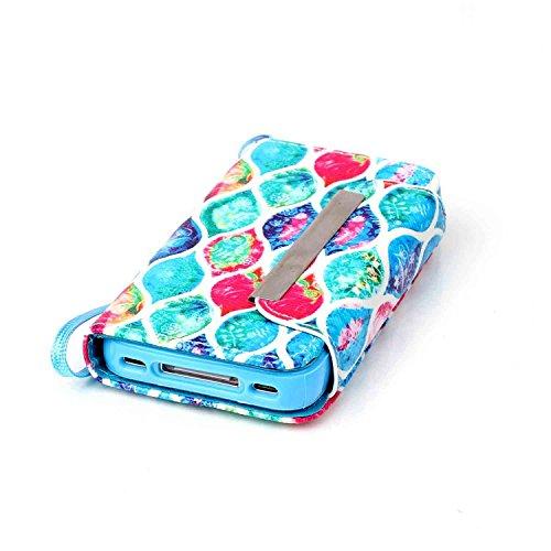 Owbb Filp PU Housse Coque Étui avec magnetic buckle protection pour iPhone 4 / 4S / 4G Smartphone - horse Color 04