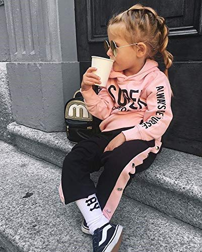 Chándal Niñas Sudadera con Capucha de Manga Larga + Pantalones Largos Ropa de Deporte para Bebé Niñas Pequeñas 2 Piezas… 2
