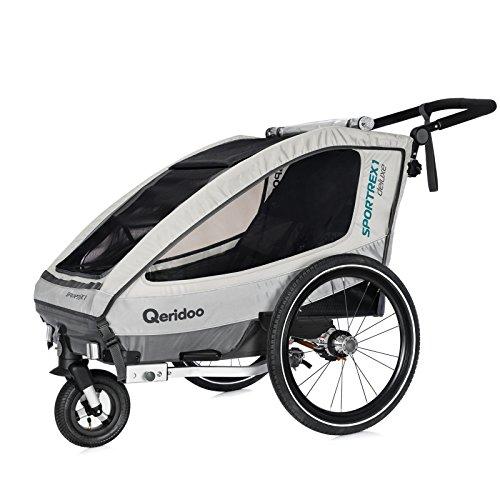 Qeridoo Sportrex 1 Deluxe Kinderanhänger 2018, Farbe:weiß