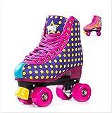 Bliss Rollerskates M�dchen Rollschuhe Damen - Indoor Outdoor Roller Skates Gr��e 31-42 Rollschuh Rockstar Edition Bild