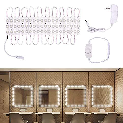 Lichtleiste- LED Lichtleiste - 5730 Spritzgussmodul Make-up Spiegelleuchten LED Modul Spiegelleuchte Set mit Fernbedienung (Farbe : Manual dimmer kit)