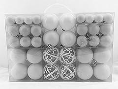 Idea Regalo - Esclusive Sfere per Albero di Natale SET con 100 Pezzi Colore Bianco