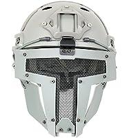 Rápido Casco con máscara de espartano, color gris