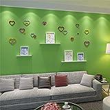 Bluelover 5Pcs 10 Farben Diy Herz Form Wand Aufkleber Abziehbild Acryl Haus Wand Tür Schlafzimmer Dekor-Lila