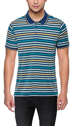 Randolph Stylish Regular Fit Multicolor Stripped Half Sleeve Cotton Polo Neck Casual...