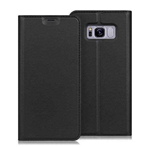 Fintie Samsung Galaxy S8 Plus Hülle - Kunstleder Wallet Tasche Schutzhülle Cover Brieftasche mit Standfunktion und Karte Halter für Samsung Galaxy S8+ Smartphone (6,2 Zoll), Schwarz