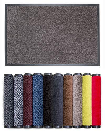Carpet Diem Rio C Schmutzfangmatte - 5 Größen - 10 Farben Fußmatte mit äußerst starker Schmutz und Feuchtigkeitsaufnahme - Sauberlaufmatte in Taupe 60 x 90 cm