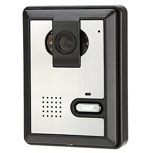 KKmoon 7-Inch Color Wired Video Doorbell Door Chime, Rainproof Door Phone with PhotoTaking Function, Visual Intercome Unlock Doorbell Rainproof 1 Camera & 1 Monitor