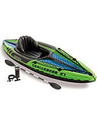Intex Challenger K1 - Set de kayak hinchable y 1 remo, 274 x 76 x 33 cm