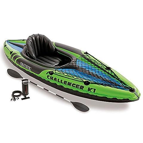 Intex Challenger K2 Kayak - Green/Blue
