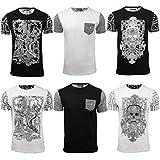 Mens Skull Print T-Shirt by Brave Soul Gothic