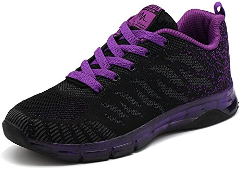 ULOGU Mujer Zapatillas de Deporte Zapatos de Running Malla Respirable del Outdoor Calzado Air Sneakers