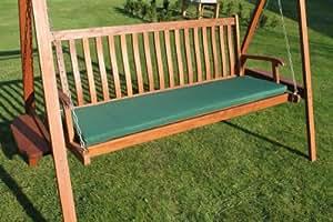 Gartenmöbel-Auflage - Auflage für 3-Sitzer-Hollywoodschaukel oder große Gartenbank in Grün
