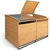 Mülltonnenbox Holz 240 L Gartenbox Mülltonnenverkleidung Mülltonne (Einzelbox + 1x Anbaubox)