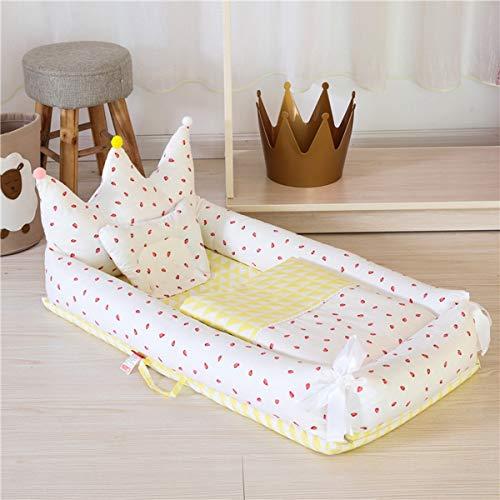 WNZL Baby Lounger, Co Sleeping Baby Stubenwagen - Babybett aus Baumwolle Premium-Qualität und größere Größe (0-24 Monate) - Atmungsaktives, hypoallergenes, tragbares Kinderbett,10 -