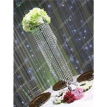 BeesClover - Soporte para Flores (10 Unidades, Cristal acrílico, 119,3 cm