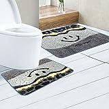 XBR Jebsen Teppich Badteppich Bath matt matt matt matt Kombination hygienisch saugstark Gesundheitlichen, Super Lächeln Grey, 50x 80cm 50x 60U Form