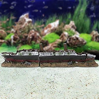 Titanic Lost Wrecked Boat Ship Aquarium Dekoration Ornament Wrack Ornamente