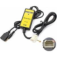 Adaptador para interfaz USB y mp3 con entrada auxiliar de 3,5mm de automóvil Toyota Camry Corolla