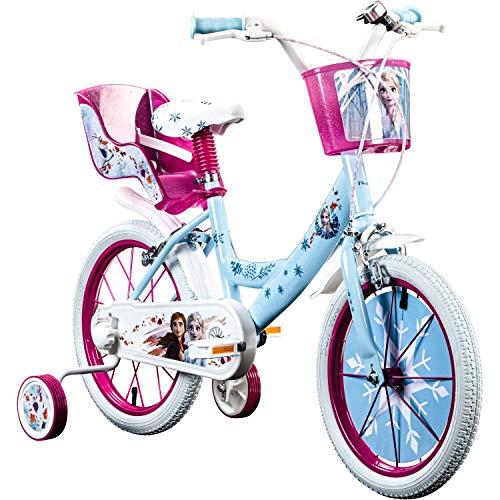 Disney Kinderfahrrad Frozen 16 Zoll Eiskönigin Fahrrad Kinder ab 4 Mädchenrad