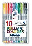 Staedtler 334 Triplus Fineliner Superfine Point Pens, 0.3 mm - Assorted Colours, Pack of 10 - STAEDTLER - amazon.co.uk