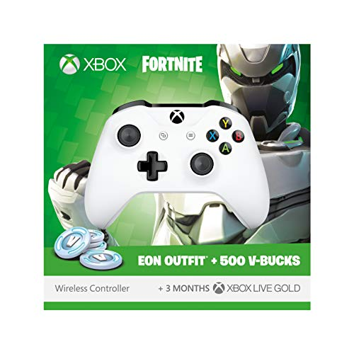 Official Xbox Wireless Controller with Fortnite Eon Cosmetic Set, 500 V-bucks and 3 Months Xbox Live Gold membership (Xbox One) (New) (Gold Live Xbox)