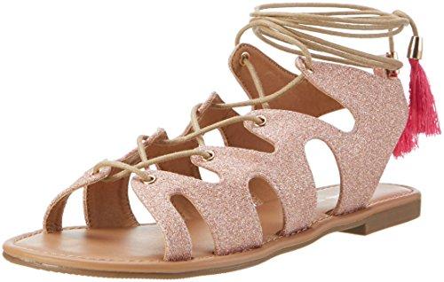Buffalo Shoes Damen 315719 XQ-818-48 5# Glitter Knöchelriemchen, Mehrfarbig (Rose 23), 39 EU