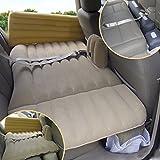 SUV Auto Aufblasbare Matratze Reise Luftbett Rücksitz Camping Rücksitz Schlafmatte Kissen Auto Schock Bett Beflockung 138 * 80 * 37 cm ( Farbe : Beige )