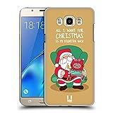 Head Case Designs Weihnachts-Wunsch Wilbur Die Katze All Star Weinachten Ruckseite Hülle für Samsung Galaxy J7 (2016)