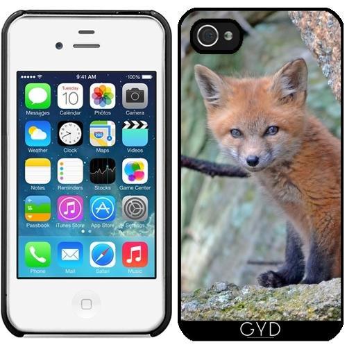 Leder Flip Case Tasche Hülle für Apple iPhone 5C - Fuchs Tier Wildtier Niedlich by Grab My Art Starre Kunststoff