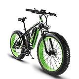 Extrbici XF800 E-Bike Mountainbike,1000W, 48V 13Ah 624Wh Akku,Elektrofahrrad 26 Zoll?Shimano 7 Gang-Schaltung, Hydraulische Bremsen, Akku mit USB-Ladeanschluss