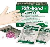 Soft-Hand 09223196 Profit Latex Handschuhe, puderfrei, Größe 7, M (100-er Pack)